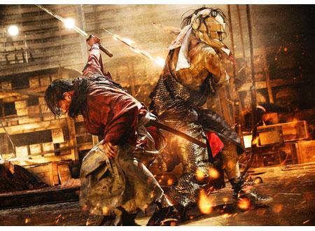剣心と志々雄が対峙するシーンのるろうに剣心の壁紙