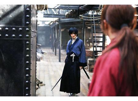 剣心と宗次郎が対峙するシーンのるろうに剣心の壁紙